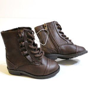 Circo Vintage Brown Faux Leather Boots Size 5